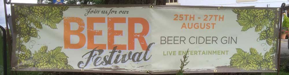Beer festival banner 2017