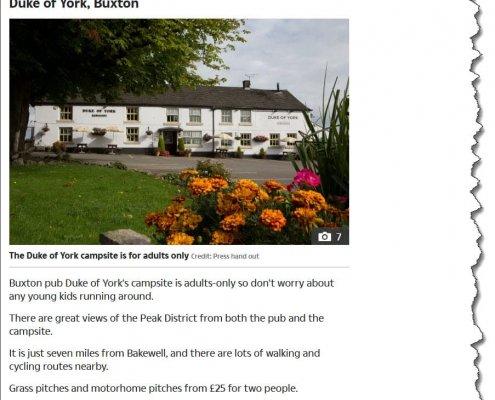 The Sun article featuring Duke of York,Buxton