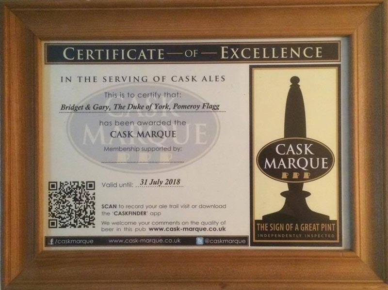 cask marque certificate