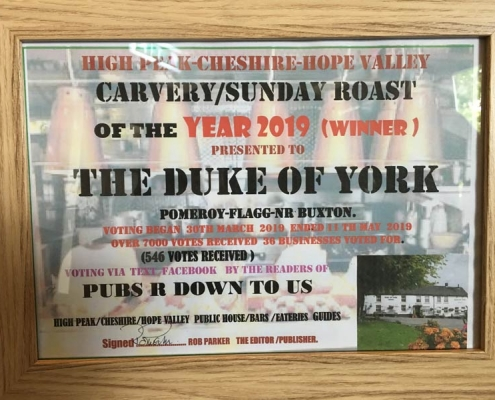 High Peak Carvery/Sunday roast of the year 2019