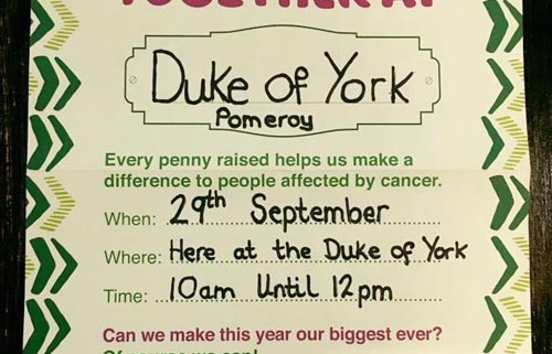 macmillan coffee morning duke of york