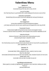 Valentine's Dinner @ The Duke of York, Pomeroy, Derbyshire | Pomeroy | England | United Kingdom